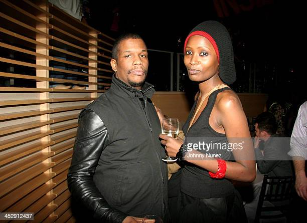 Photographer Barron Claiborne and Wife during Spike Lee's Birthday and Inside Man Premiere After Party at The Time Warner Building in New York City...