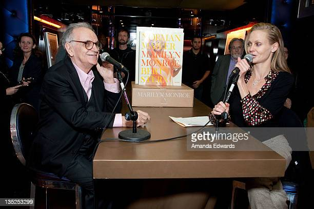 Photographer Bert Stern and director Shannah Laumeister participate in a QA session at the book release of 'Norman Mailer Bert Stern Marilyn Monroe'...