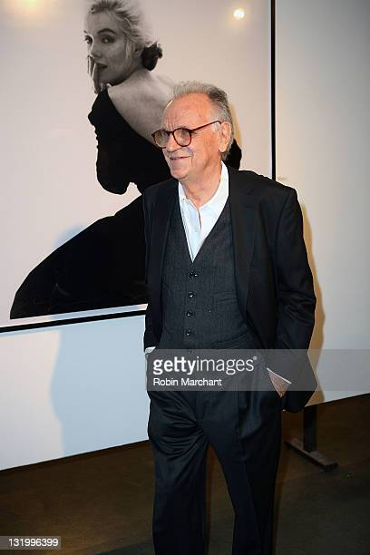 Photographer Bert Stern attends the 'Picturing Marilyn' Exhibition opening with a screening of 'My Week With Marilyn' at Milk Studios on November 9...