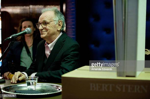 Photographer Bert Stern participates in a QA session at the book release of 'Norman Mailer Bert Stern Marilyn Monroe' at Taschen on December 7 2011...
