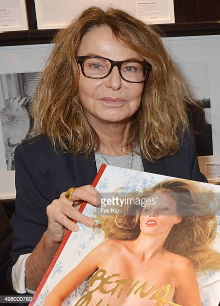 Photographer Bettina Rheims attends the Bettina Rheims Book Signing at Taschen Store Paris on November 19, 2015 in Paris, France.