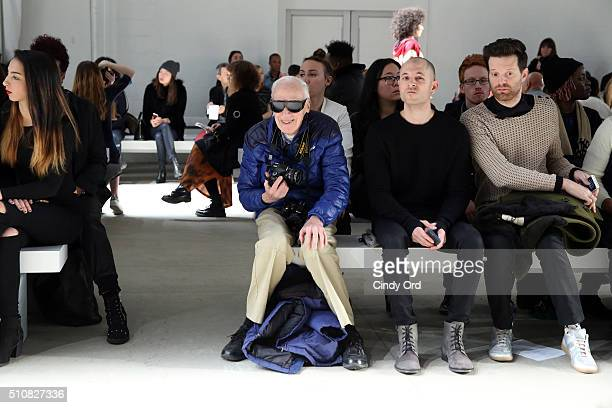Photographer Bill Cunningham attends the Xuly Bet Fall 2016 fashion show during New York Fashion Week The Shows at The Gallery Skylight at Clarkson...