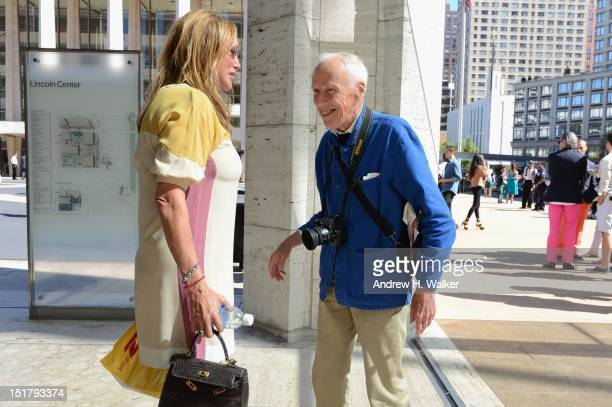 Photographer Bill Cunningham during Spring 2013 MercedesBenz Fashion Week at Lincoln Center for the Performing Arts on September 11 2012 in New York...