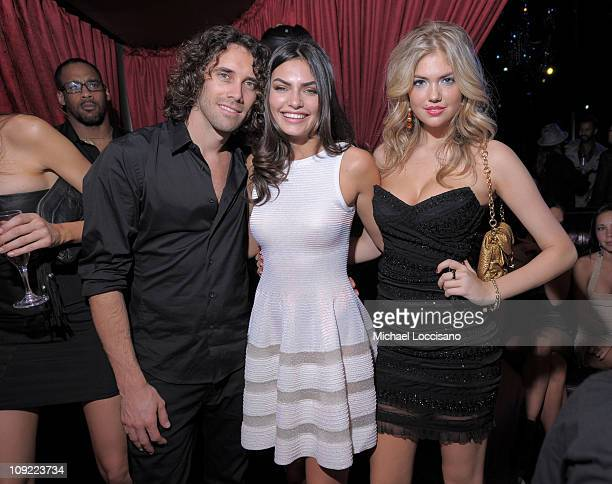 Photographer Bjorn Iooss and Sports Illustrated swimsuit models Alyssa Miller and Kate Upton attend SI Swimsuit On Location hosted by LAX Nightclub...