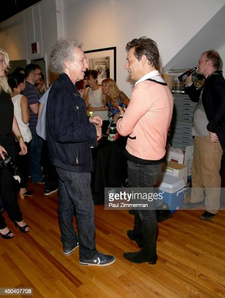 Photographer Bob Gruen and musician Jamie Hince attend Jamie Hince's 'Echo Home' Exhibition Opening sponsored by Morrison Hotel Gallery and Rational...