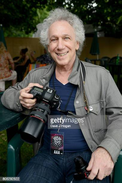 Photographer Bob Gruen poses backstage at the Barclaycard Presents British Summer Time Festival in Hyde Park on July 1, 2017 in London, England.