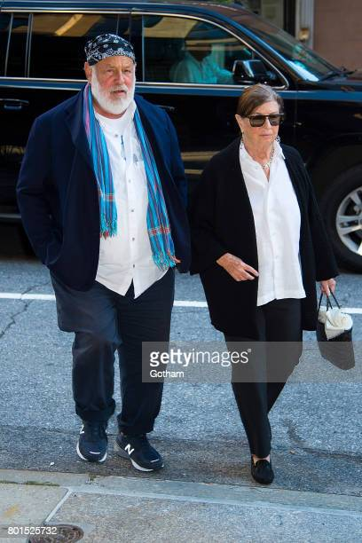 Photographer Bruce Webber and Nan Bush attend a dinner honoring Anna Wintour on June 26 2017 in New York City