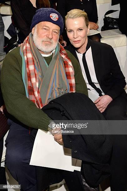 Photographer Bruce Weber and actress Kim Basinger attend the Ralph Lauren fashion show during MercedesBenz Fashion Week Fall 2014 at St John Center...