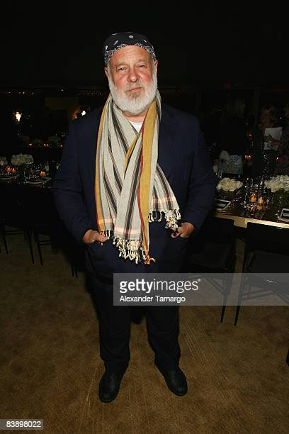 Photographer Bruce Weber attends a private dinner in honor of Anri Sala at the Cartier Dome Miami Beach Botanical Garden on December 2 2008 in Miami...