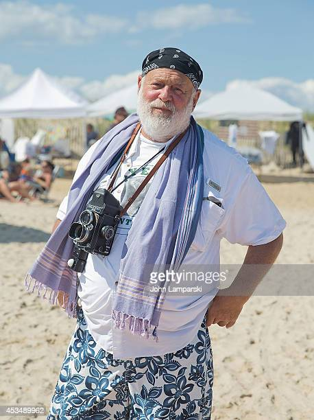 Photographer Bruce Weber attends the 16th Annual Rell Sunn Benefit Surf Contest at Ditch Plains on August 9 2014 in Montauk New York