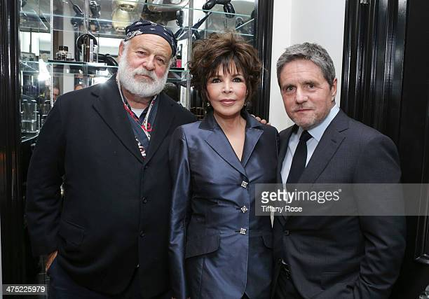 Photographer Bruce Weber recording artist Carole Bayer Sager and CEO of Paramount Pictures Brad Grey attend VIOLET GREY Honors Elizabeth Taylor At...