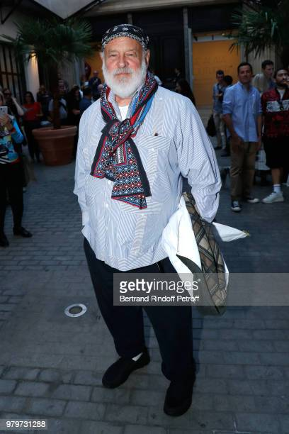 Photographer Bruce Weber signs the book 'Azzedine Bruce and Joe' at Galerie Azzedine Alaia on June 20 2018 in Paris France