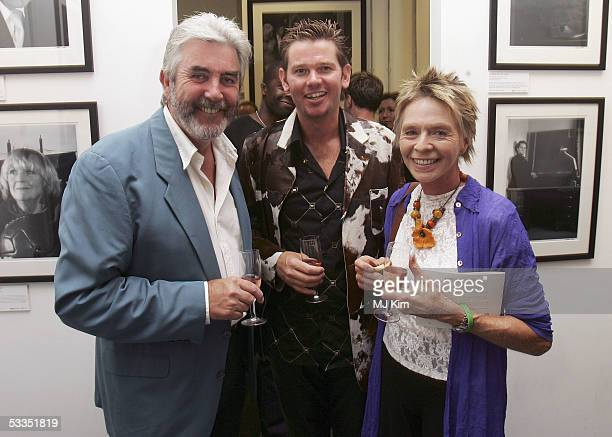 Photographer Cambridge Jones actors John Alderton and Susannah York are seen at the private view for Off Stage The RADA Centenary Portraits...