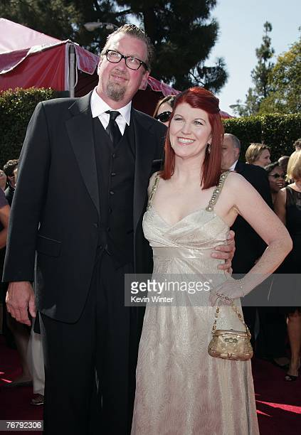 PRICING*** Photographer Chris Haston and actress Kate Flannery arrive at the 59th Annual Primetime Emmy Awards at the Shrine Auditorium on September...