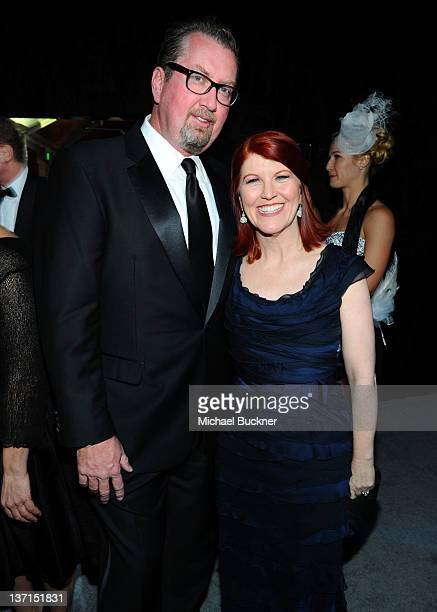 Photographer Chris Haston and actress Kate Flannery attend NBCUniversal's 69th Annual Golden Globes Viewing and After Party Sponsored By Chrysler and...
