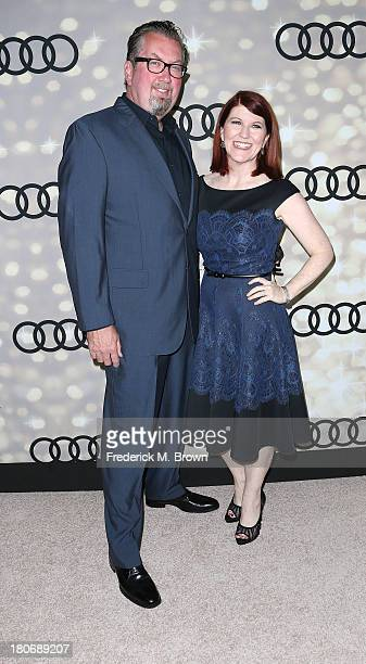 Photographer Chris Haston and actress Kate Flannery attend Audi and Altuzarra's Primetime Emmy Awards Week 2013 KickOff Party at Cecconi's Restaurant...