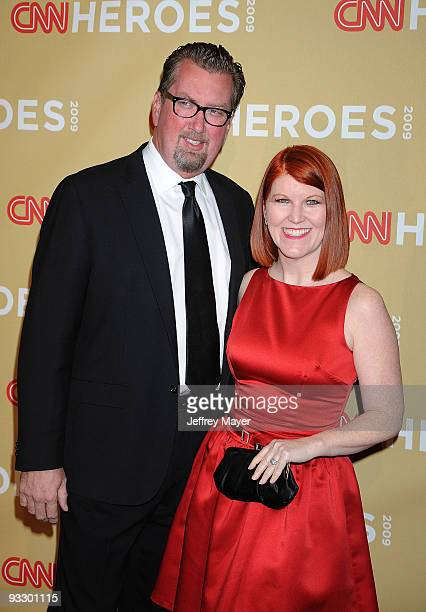 Photographer Chris Haston and actress Kate Flannery attend the 2009 CNN Heroes Awards held at the Kodak Theatre on November 21 2009 in Hollywood...