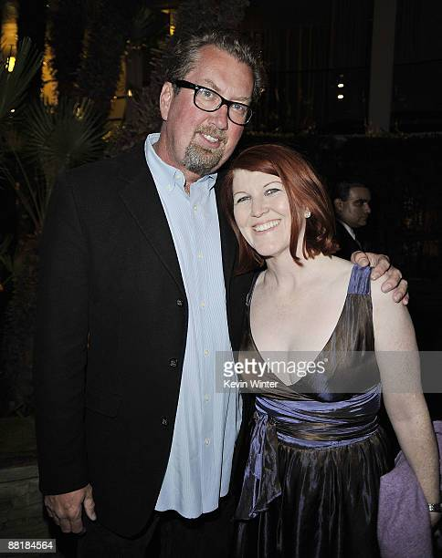 Photographer Chris Haston and actress Kate Flannery pose at the afterparty for the premiere of Warner Bros Pictures' Hangover at the Roosevelt Hotel...