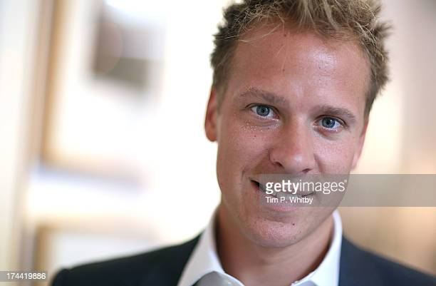 Photographer Chris Jackson attends the private view of 'Sentebale - Stories Of Hope' at Getty Images Gallery on July 25, 2013 in London, England. The...