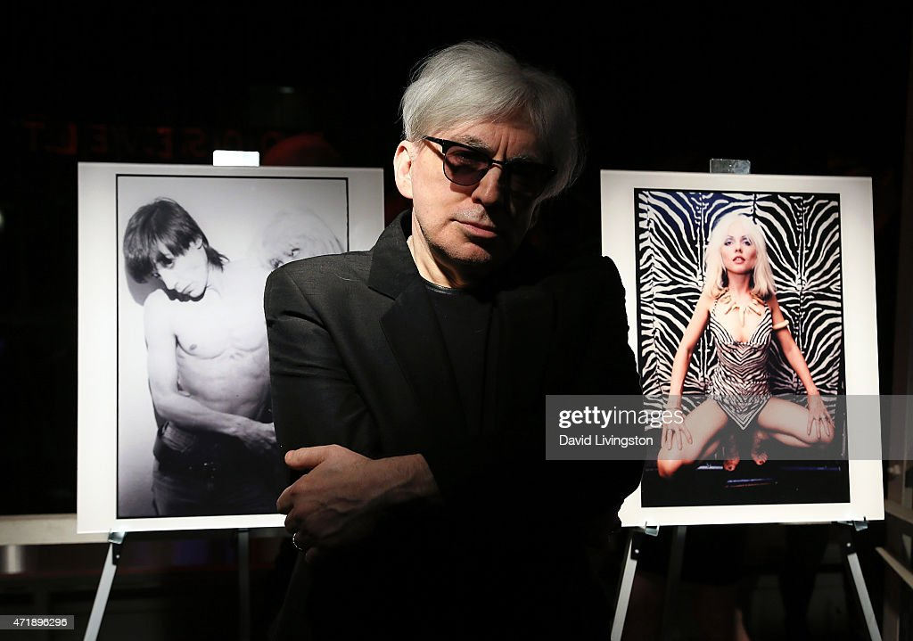 Photographer Chris Stein attends a Debbie Harry and Chris Stein hosted cocktail party at the Hollywood Roosevelt Hotel on May 1, 2015 in Hollywood, California.