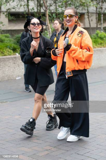Photographer Christabelle Beaudry wears Buffalo boots and vintage clothes with Fashion Designer Jeanne Touzet wearing an Asger Juel Larsen jacket Max...