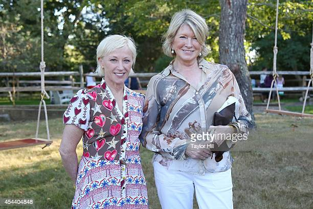 Photographer Cindy Sherman and Martha Stewart attend the 2014 Perfect Earth Project Family Picnic And Concert at Cindy Sherman's farmhouse on August...