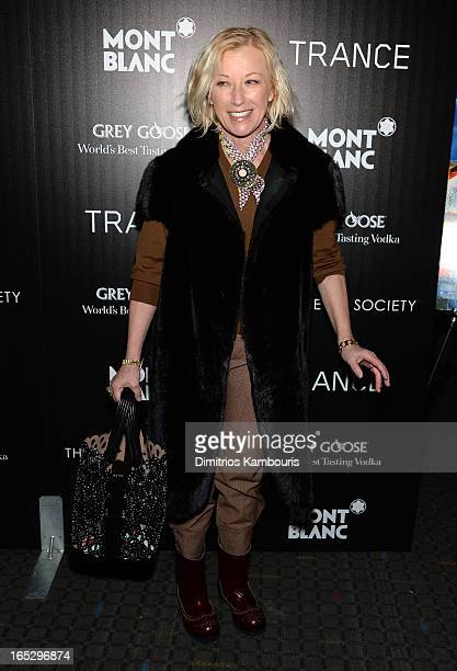 Photographer Cindy Sherman attends Fox Searchlight Pictures' premiere of Trance hosted by the Cinema Society Montblanc at SVA Theater on April 2 2013...
