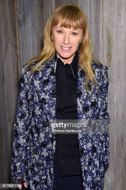 Photographer Cindy Sherman attends the Calvin Klein Collection front row during New York Fashion Week at New York Stock Exchange on February 13 2018...