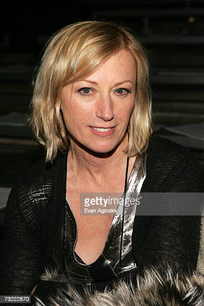 Photographer Cindy Sherman attends the Marc Jacobs Fall 2007 fashion show during MercedesBenz Fashion Week at NY State Armory February 5 2007 in New...