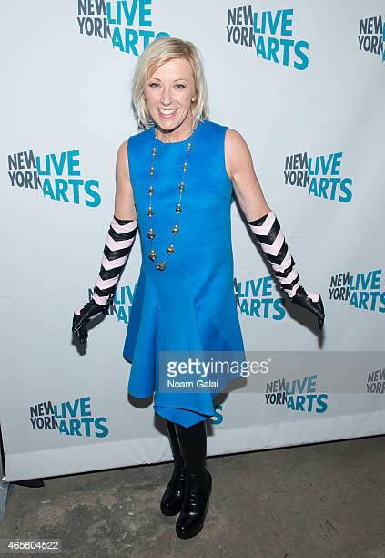 Photographer Cindy Sherman attends the New York Live Arts 2015 Gala at SIR Stage37 on March 10 2015 in New York City