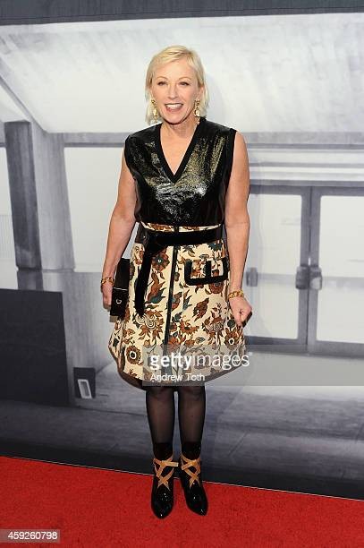 Photographer Cindy Sherman attends The Whitney Museum Of American Art's 2014 Gala Studio Party at The Whitney Museum of American Art on November 19...