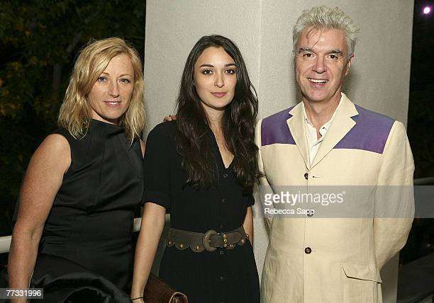 Photographer Cindy Sherman Malu Byrne and musician David Byrne at the Gala In The Garden event at the Hammer Museum on October 14 2007 in Westwood...