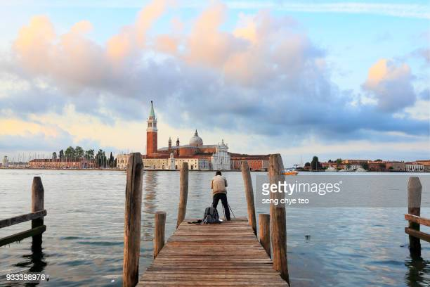 A photographer Colors of dawn in Venice