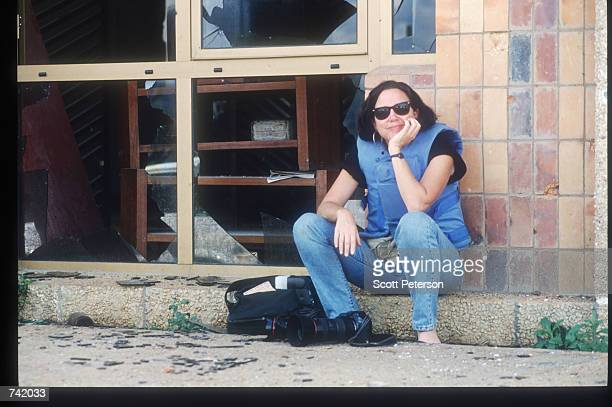 Photographer Corinne Dufka of Reuters poses June 1994 in Kigali Rwanda Wellknown journalists descended on Rwanda during and after the genocide
