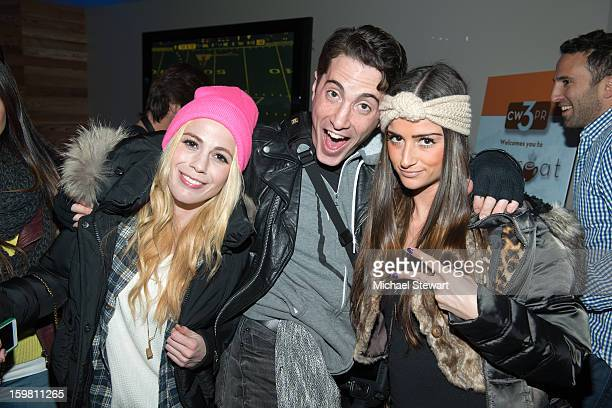 Photographer Craig Giambrone and guests attend Paige Hospitality Game Watch at Sky Bar on January 20 2013 in Park City Utah
