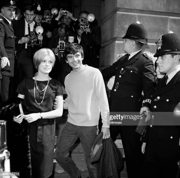 Photographer David Bailey 27 years old marries French actress Catherine Deneuve aged 21 years at St Pancras Registry Office 18th August 1965