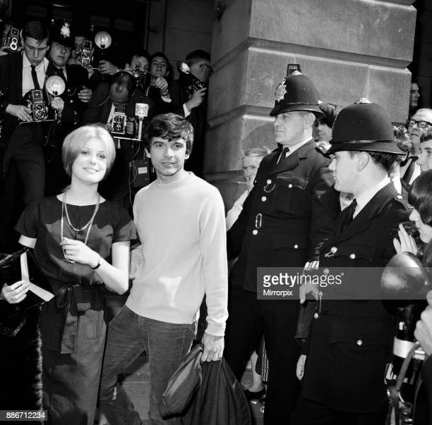 Photographer David Bailey, 27 years old, marries French actress Catherine Deneuve, aged 21 years, at St Pancras Registry Office, 18th August 1965.