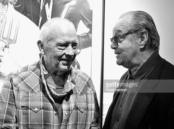 Photographer David Bailey and actor Jack Nicholson attend TASCHEN And David Bailey Celebrate 'It's Just A Shot Away The Rolling Stones In...