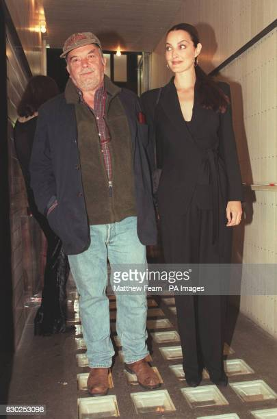 Photographer David Bailey and his wife Catherine at The Social in London for a party hosted by Bailey and Mulberry to view his collection of prints...