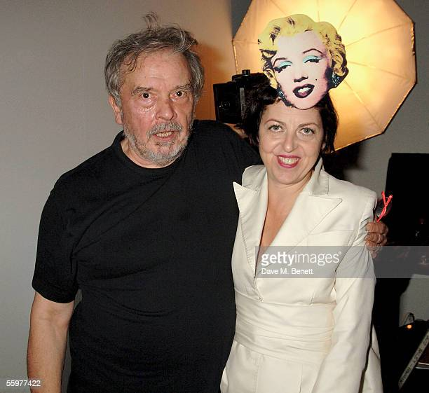 Photographer David Bailey and Isabella Blow attend the Private View launch party for the annual Frieze Art Fair, the UK's largest contemporary art...