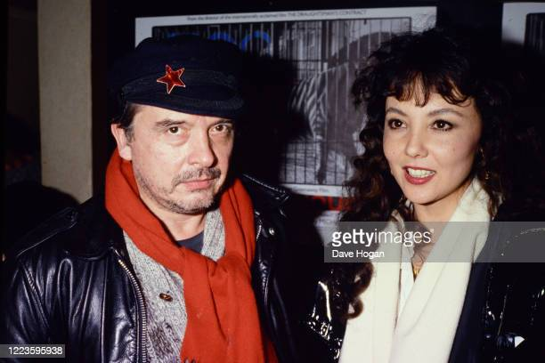 Photographer David Bailey and Marie Helvin in London 1985