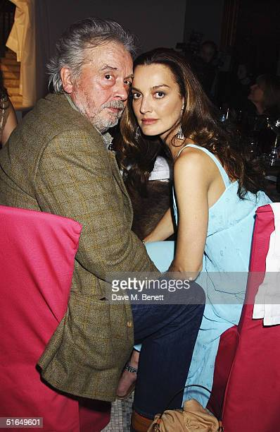 Photographer David Bailey and wife Catherine attend the British Fashion Awards 2004 at the Victoria and Albert Museum on November 2 2004 in London...