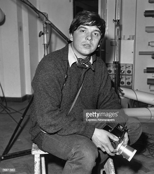 Photographer David Bailey at work in the Vogue studio