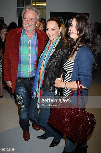 Photographer David Bailey his wife Catherine Bailey and their family attend the Alive at Night private view and launch of the Nokia N86 at the Old...