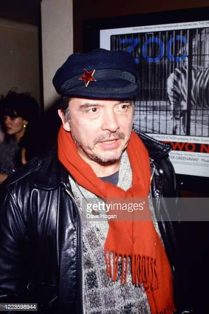 Photographer David Bailey in London, 1985.