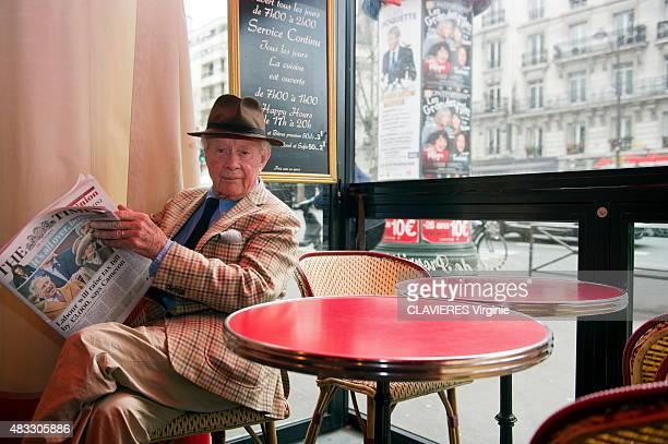 Photographer David Hamilton poses near his home in Paris on April 1, 2015.