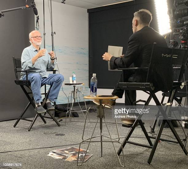 Photographer David Hume Kennerly is interviewed by Director of Archive Bob Ahern at Getty Images Los Angeles Office on October 24 2018