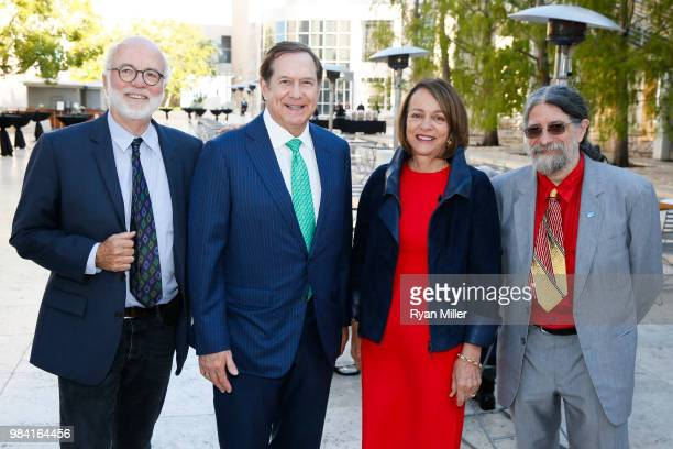 June 25: Photographer David Hume Kennerly, Jordan Schnitzer, Louise Bryson and photographer Christopher Rauschenberg attend Icons of Style: A Century...