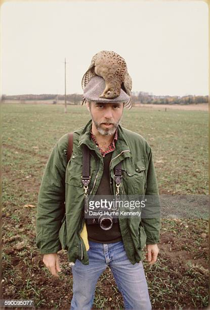 Photographer David Hume Kennerly poses while doing a story on fashion photographer Patrick Lichfield for Life Magazine. This undated photo of...