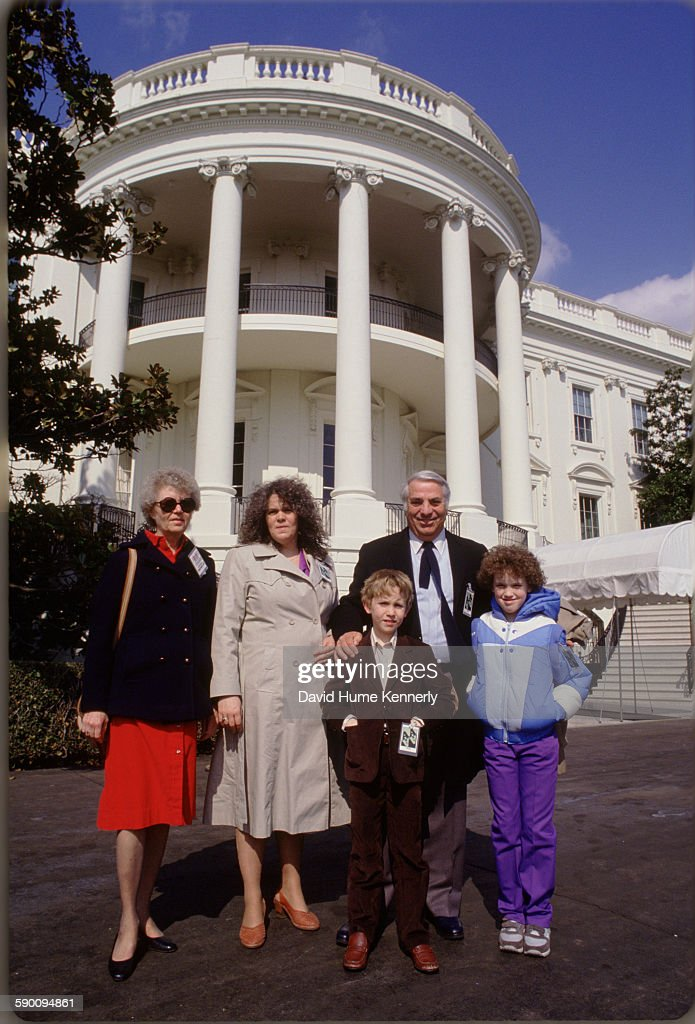 The Kennerly Family at the White House : News Photo